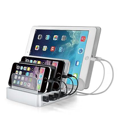 Amazon.com: Estación de carga, tispun 6 puertos USB Charging ...