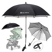 YLYYCC Baby Stroller Sun Shade/Stroller Umbrella/Uv Protection Umbrella 360 Degrees Adjustable Direction Stroller Accessories (Black-A)