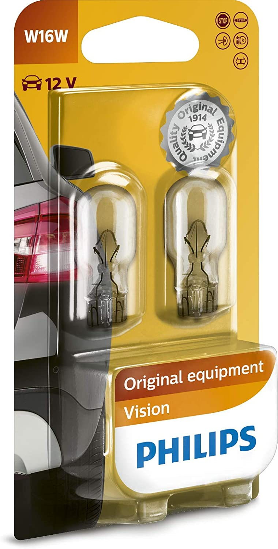 Philips 12067B2 - Bombillas para coche (W16W, 16 W, 2 unidades)