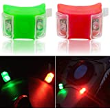Botepon Marine Boat Bow Lights, Red and Green Led Navigation Lights, Kayak Accessories, Marine Safety Lights Battery…