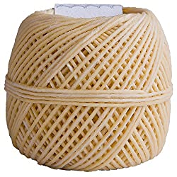 EricX Light Beeswax Hemp Wick, 200 ft Spool, 100%