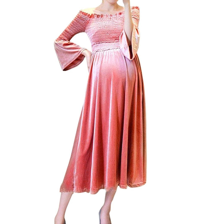 60%OFF Siswong Vestido Embarazada Premama Largo Terciopelo Off ...