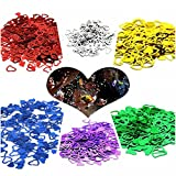 VWH Silver Heart-shaped Wedding Confetti Spilled DIY Celebrations Party Supplies