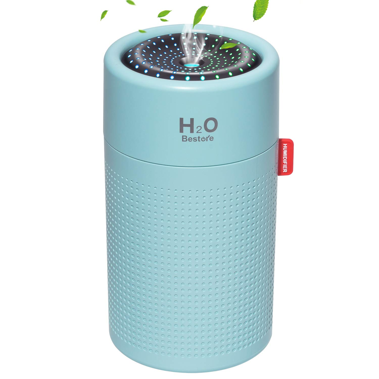 卓上 usb充電式 2000mAh大容量 アロマディフューザー コードレス 超静音 アロマ 除菌 ペットボトル 超音波式 加湿器 ミニ オフィス/部屋/車載 空焚き防止 水漏れ防止 LEDライト搭載 乾燥/花粉症対策