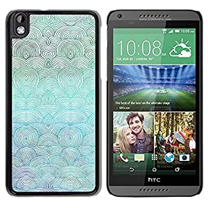 Stuss Case / Funda Carcasa protectora - Waves Art Beach Drawing Ocean Sea Blue Painting - HTC DESIRE 816