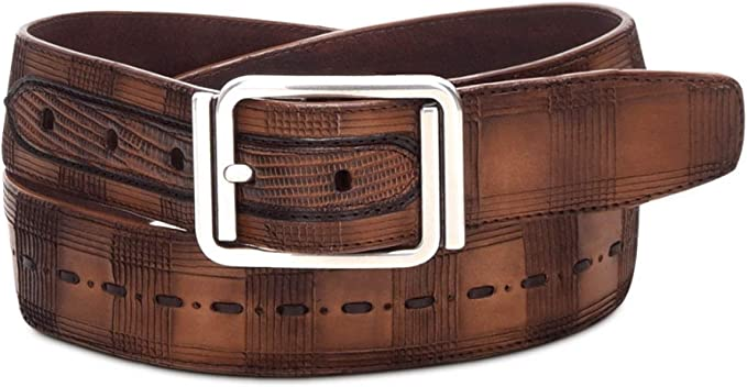 BC104 Cuadra Honey Deer Woven Leather Western Belt