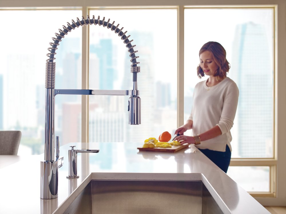 Moen 5923 Align One-Handle Pre-Rinse Spring Pulldown Kitchen Faucet with Power Clean, 1 count, Chrome by Moen (Image #13)
