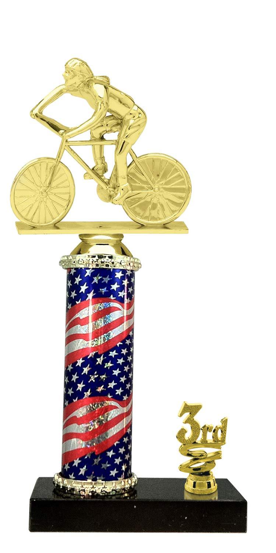 Express Medals(1-3-5パックの3位の女性サイクリングフラッグトロフィー、カスタマイズプレート付き B07JD53GP6  5