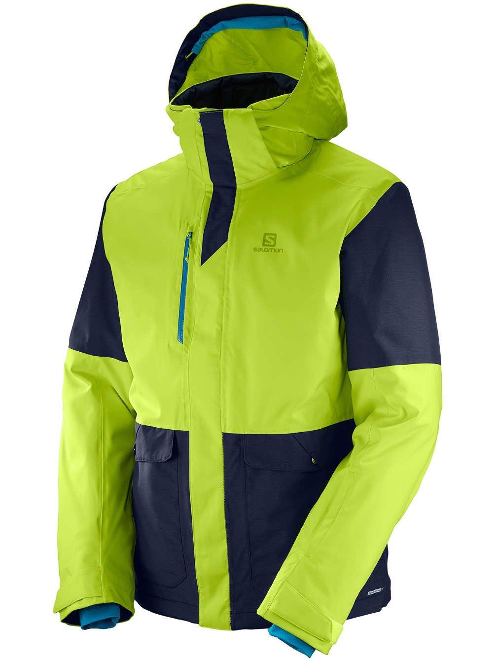 SALOMON(サロモン)STORMTRACK JKT M メンズ スキーウェア レギュラーフィット L39766000 AcidLim L B01MYAPY4S