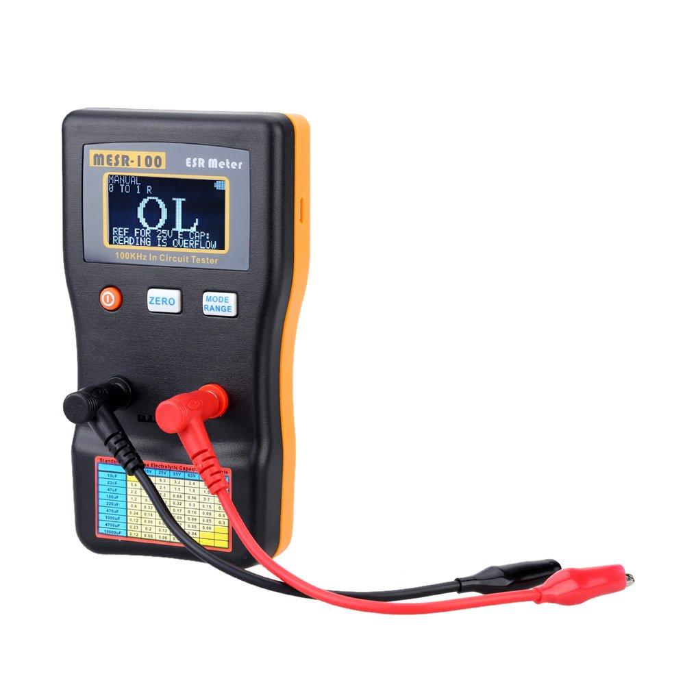KKmoon MESR-100 ESR Capacitance Ohm Meter Professional Measuring Capacitance Resistance Capacitor Circuit Tester