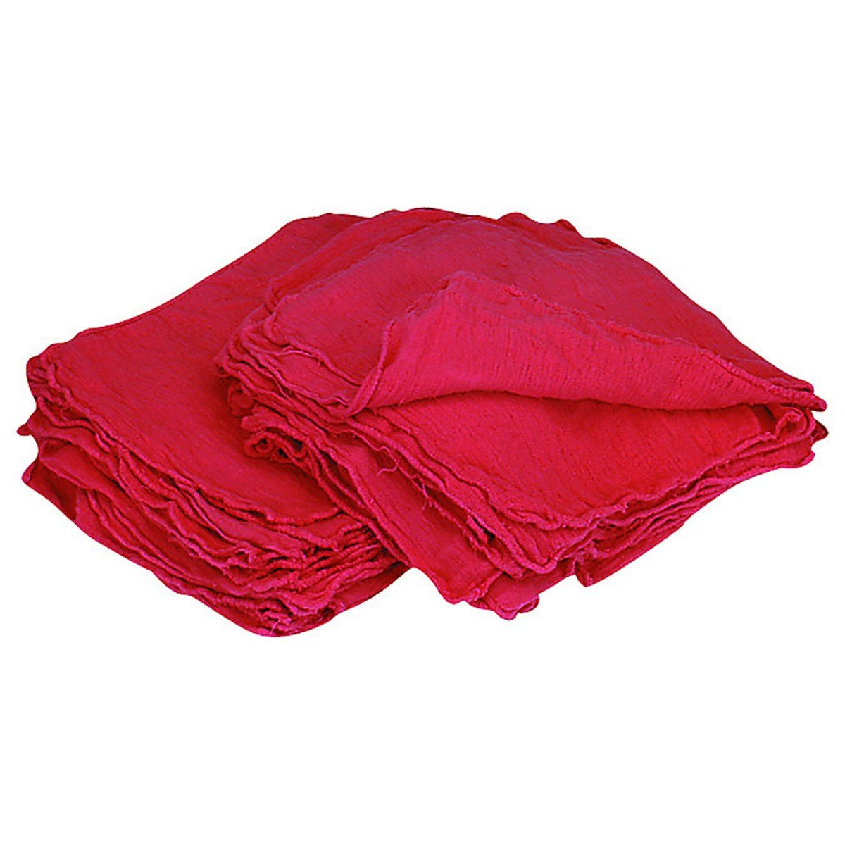 Tuf-Clean 21818 Shop Towels, 100% Cotton, Red, Bale of 2,500 by Tuf-Clean (Image #2)