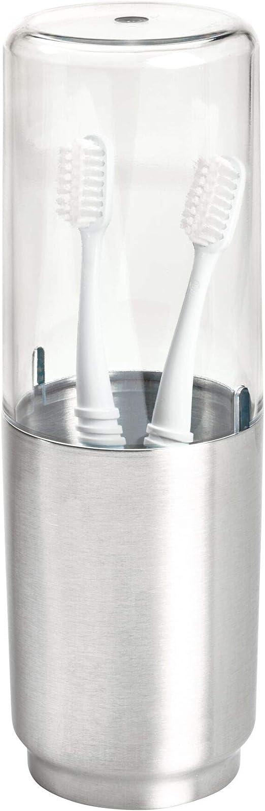 iDesign Austin Soporte para cepillos de dientes de plástico y ...