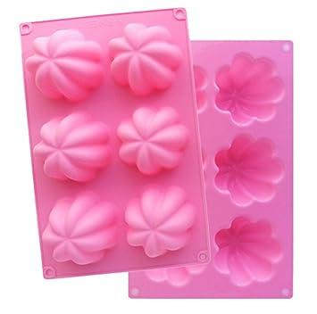 Compra Silikomart - Molde para cubitos de hielo forma flor silicona muffin molde madalenas Formas Cupcake Muffin molde moldes Cupcake Pudding jalea en ...