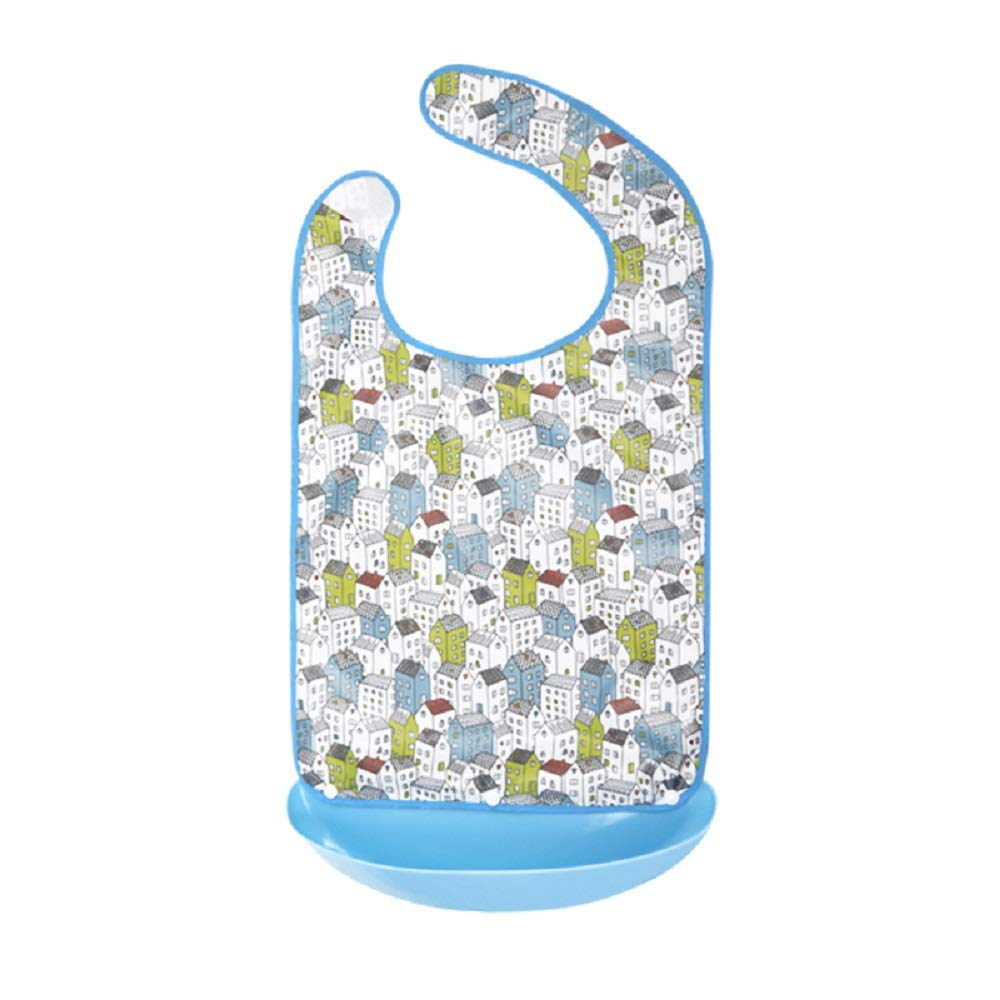 SWC Store Adult Bib with Crumb Catcher - Large Size Adult Feeding Aid Easy to Clean for Patient Old People by SWC store
