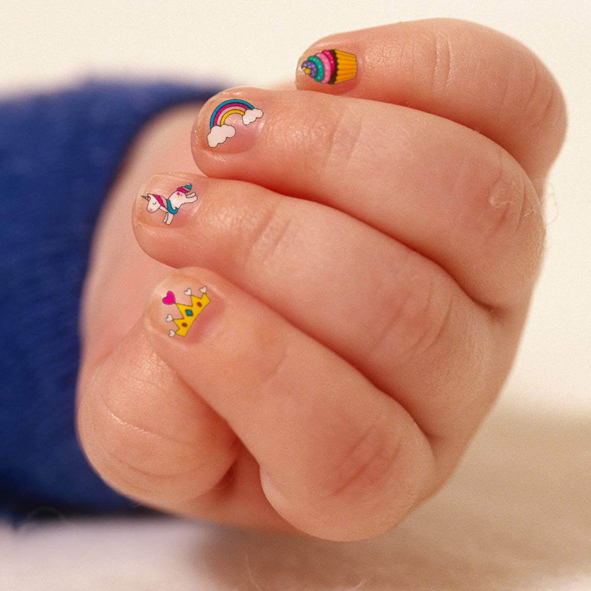 Unicorn Tipped Nail Art: Madholly 10 Sheets Self Adhesive Unicorn Nail Art Stickers