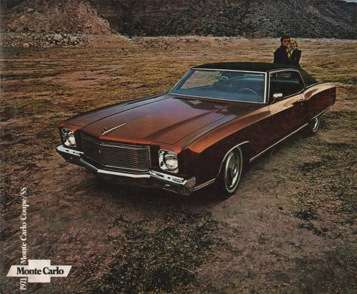 - 1971 Monte Carlo Sales Brochure (With Decal)