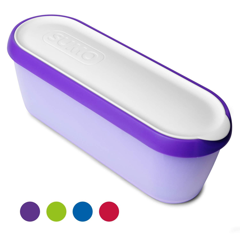 SUMO Ice Cream Containers: Insulated Ice Cream Tub for Homemade Ice-Cream, Gelato or Sorbet - Dishwasher Safe - 1.5 Quart Capacity [Purple, 1-Pack]