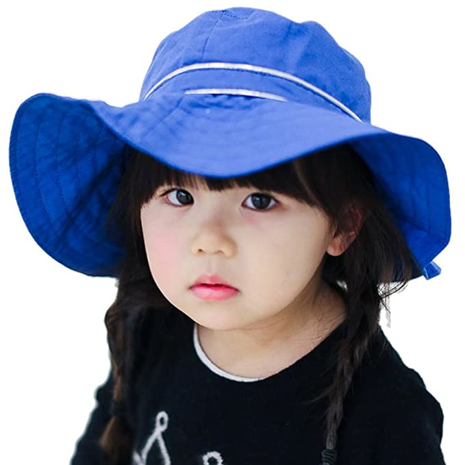 HAPPY CHERRY Azul Sombrero de Algodón Visera Infantil con Ala Ancha  Princesas Lazo Gorra Protección contra Sol para Bebés Niñas Verano  Primavera  Amazon.es  ... 62357adbb231
