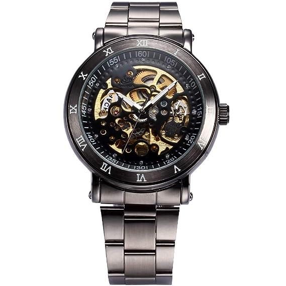 Sewor AMPM24 - Reloj de Pulsera para Hombre, con Correa de Metal: Amazon.es: Relojes