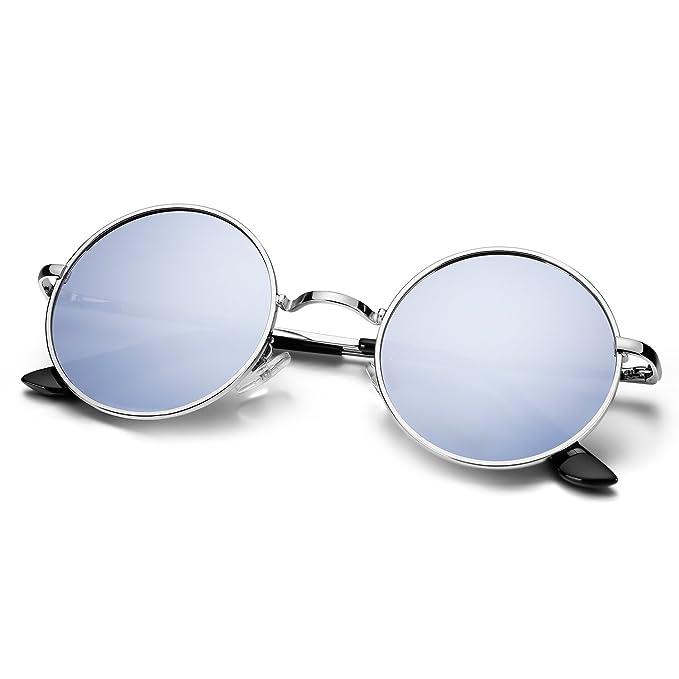 Menton Ezil - anteojos de sol redondas polarizadas para hombre ... c60fc5e79c2a