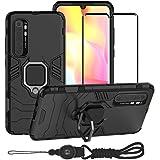 BestMX Funda para Xiaomi Mi Note 10 Lite Case Protector de Pantalla de Cristal Templado, Híbrida Rugged Armor Choque Absorció