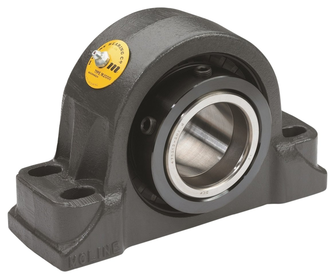 Big Bearing M2000-4-1/2-4  M2000 Heavy Duty Four Bolt Pillow Block Bearing, 4-1/2'' Shaft Size, 16-1/2'' Length, 6-1/4'' Width, 9-1/2'' Height, 72 lb., Iron/Steel
