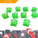 LovesTown Bath Toy, 10 Pcs Rubber Frog Tub Toy for