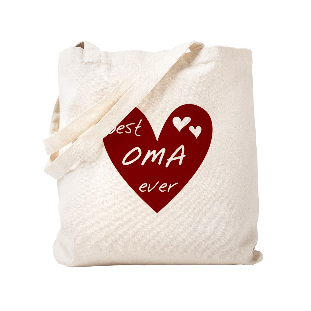 dfb507621a85 CafePress - Heart Best Oma Ever - Natural Canvas Tote Bag, Cloth Shopping  Bag