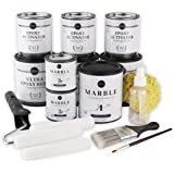 Giani Carrara White Marble Epoxy Countertop Kit