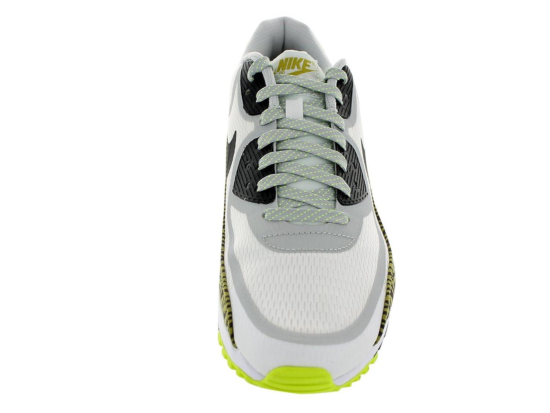 best website 7b01c 842ee Amazon.com   Nike Men s Air Max 90 Cmft Prm Tape Smmt Wht Nwsprnt Dsty  Gry Blk Running Shoe 13 Men US   Shoes