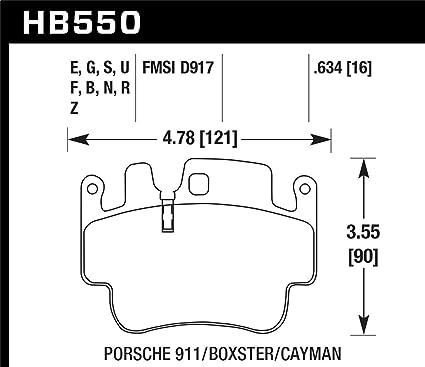 Hawk 98 - 05 Porsche 911 frontal y trasera/00 - 07 Boxster/06 ...