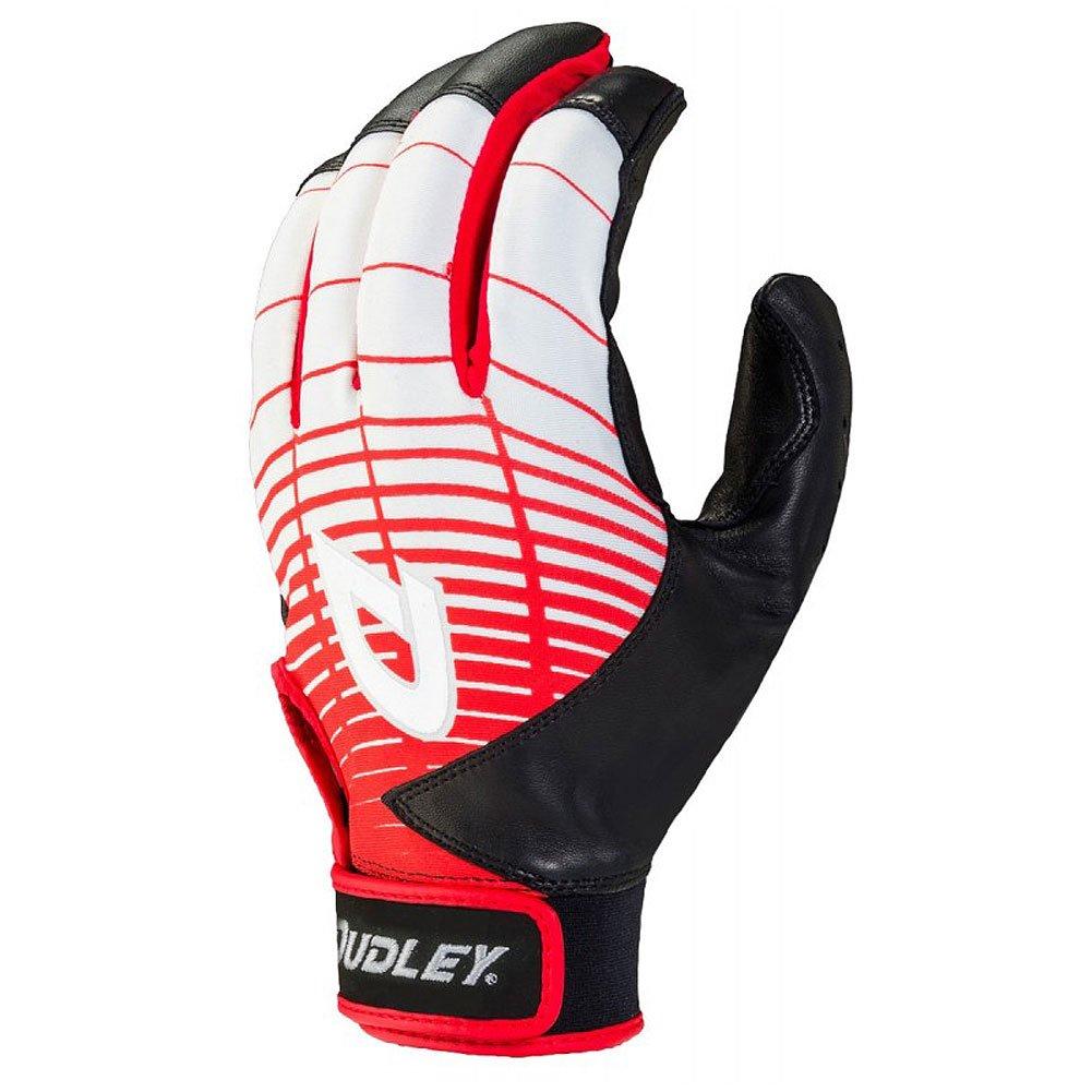 Dudley Thunderシリーズ大人用野球/ソフトボールバッティング手袋 B01MXS92PM Medium|ブラック/レッド ブラック/レッド Medium