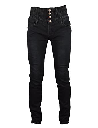 PHOENISING Womens Sexy High Waist Trousers Shaping Stretchy Jeans Size  Black 6 Waist 26 1e2e1325f9