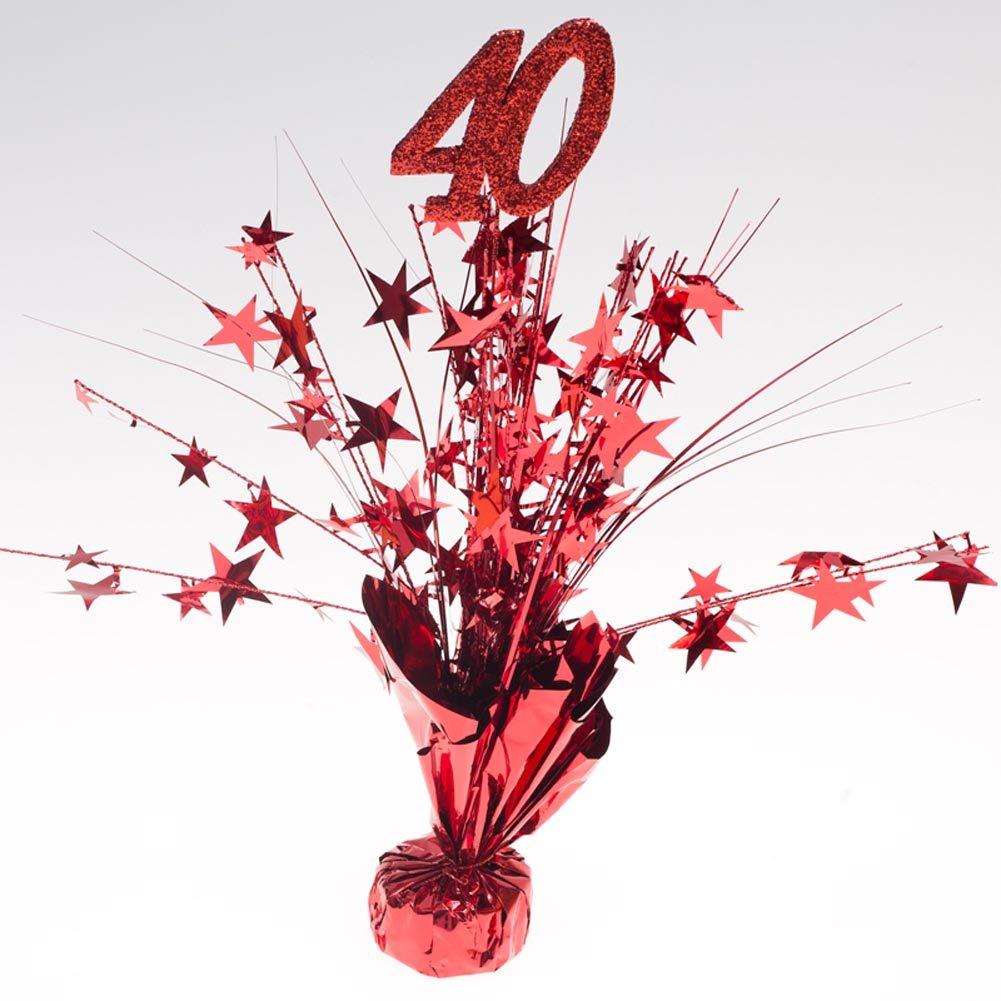 Party Deco Ruby Red 40'' Centerpieces -pkg/6