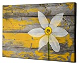 Epic Graffiti Wood Series Giclee Canvas Wall Art, 26'' x 40'', a Rustic Paradise