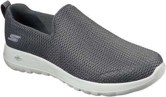 Skechers mens Go Walk Max-Athletic Air Mesh Slip on Walking Shoe,Charcoal,12 M US