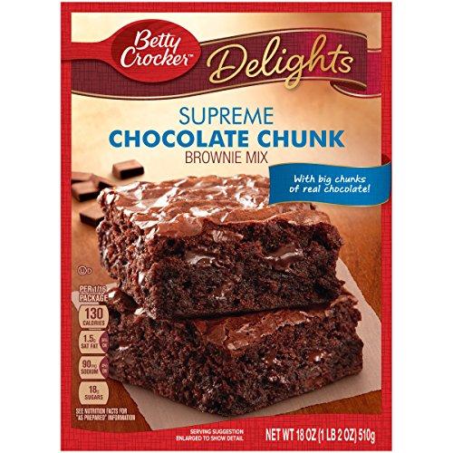 Betty Crocker Chocolate Brownie (Betty Crocker Delights Brownie Mix Supreme Chocolate Chunk 18.0 oz Box (pack of 6))
