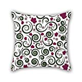 NICEPLW cushion cases of flower,for chair,outdoor,gf,office,relatives,teens girls 18 x 18 inches / 45 by 45 cm(both sides)