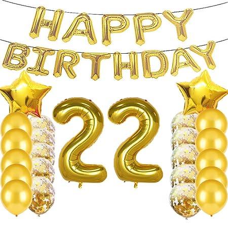 Sweet 22 cumpleaños decoraciones suministros de fiesta ...