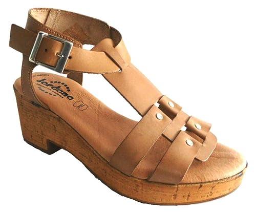 Donna Amazon Jordana Scarpe Sandalo it Pelle 0251688 Sughero Tacco 1zaPaOwq