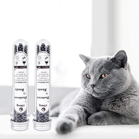awhao-123 Perlas de Desodorante para Arena para Gatos, Perlas de ...