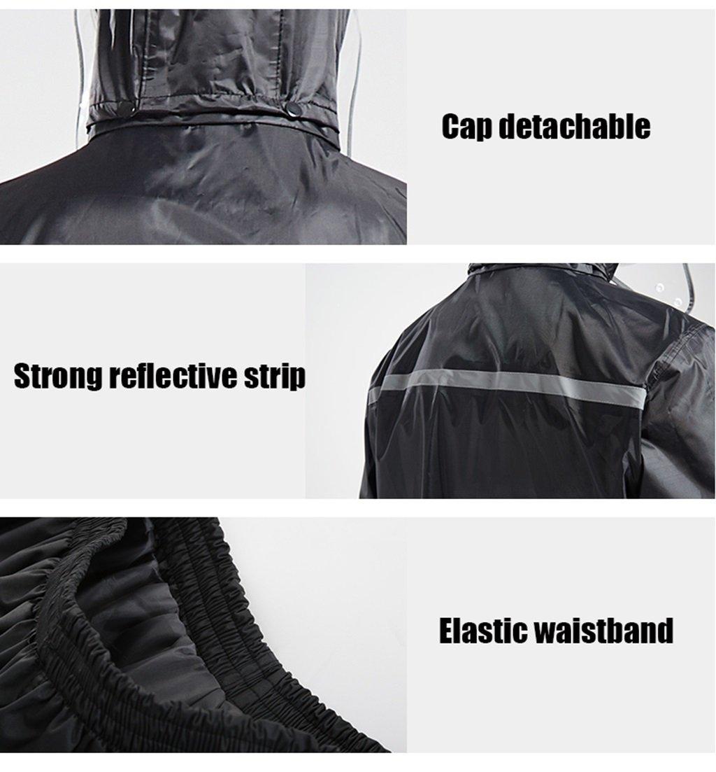 WQ-Regenjacken WQ-Regenjacken WQ-Regenjacken Einzelner männlicher und weiblicher aufgeteilter Regenmantel-Erwachsene Reitregen-Hosen-Satz kann wiederverwendet Werden (Farbe   schwarz, größe   XXXL) B07FD87ZKG Jacken Vorzugspreis 48c66e