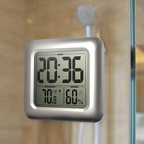 ultifit (TM) baldr moda ducha impermeable tiempo reloj digital Relojes de pared para cocina