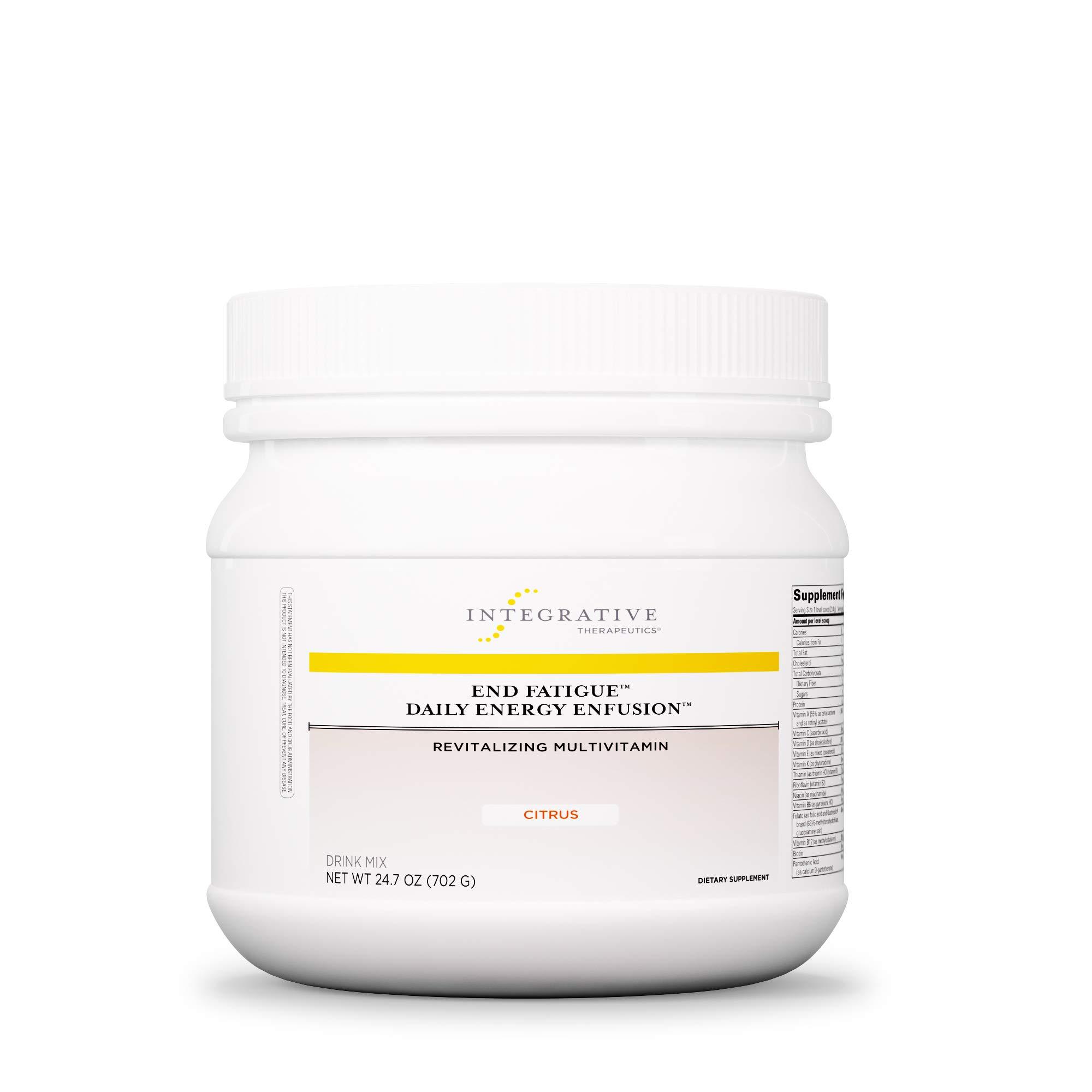Integrative Therapeutics - End Fatigue Daily Energy Enfusion - Revitalizing Multivitamin - Citrus Flavor - 24.7 Ounce