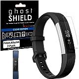 Protections Écran Fitbit Alta HR, TECHGEAR® Fitbit Alta HR [Version ghostSHIELD] Film Protecteur d'Écran Flexible Renforcé en TPU avec Protection Totale de l'Écran - pour Bracelet de Remise en Forme Fitbit Alta HR Heart Rate [Pack de 2]