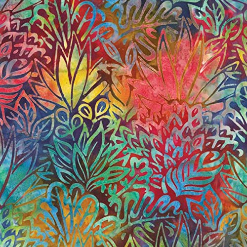 Foliage Batik - Robert Kaufman Totally Tropical Artisan Batiks Multi Jungle Foliage