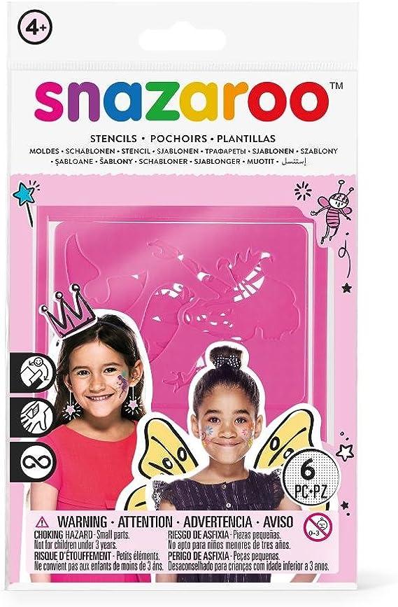 Snazaroo - Set de 6 plantillas de pintura facial, fantasía , color/modelo surtido: Amazon.es: Juguetes y juegos