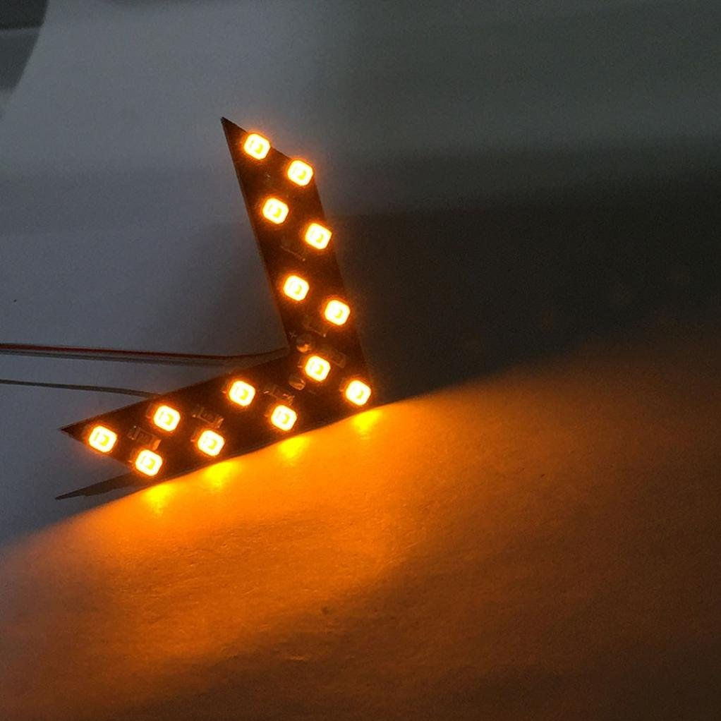14 SMD LED Arrow Panel For Car Rear View Mirror Indicator Turn Signal Light,Tuscom (Yellow)