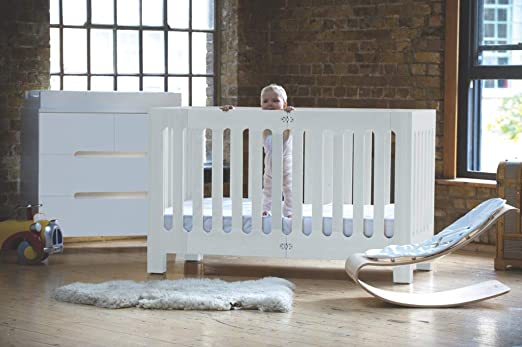 Bloom Alma Max Modern Folding 3-in-1 Convertible Crib