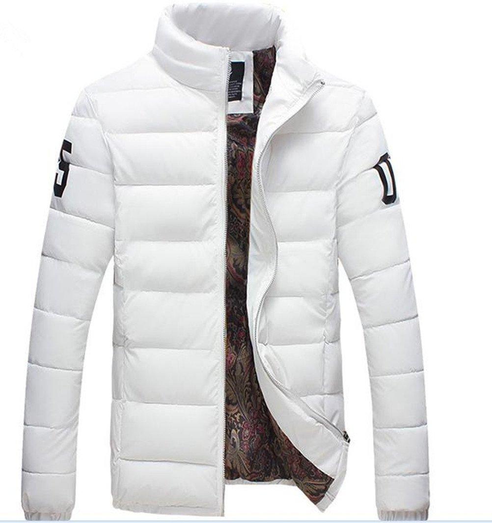 YH Men's Slim Cotton Jacket Winter Outwear White XXXL